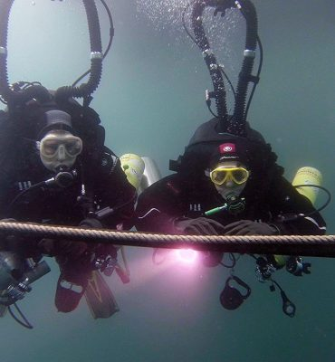 CCR Divers Performing Open Circuit Bailout Ascent Full Size