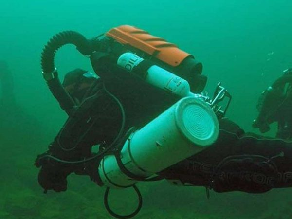 CCR Diver on a VMS RedBare Try Dive